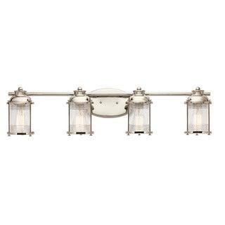 Kichler Lighting Ashland Bay Collection 4-light Polished Nickel Bath/Vanity Light