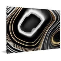 Marmont Hill - 'Gold Layers' Painting Print on Wrapped Canvas - Black