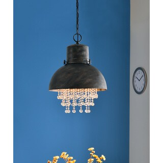 Design Craft Aniston Corroded Metal 1 Light Pendant