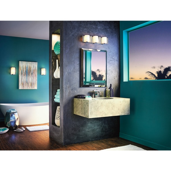 Halogen Bathroom Lights: Shop Kichler Lighting Selene Collection 3-light Chrome