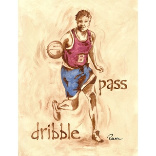Marmont Hill - 'Hoopster' by Reesa Qualia Painting Print on Wrapped Canvas