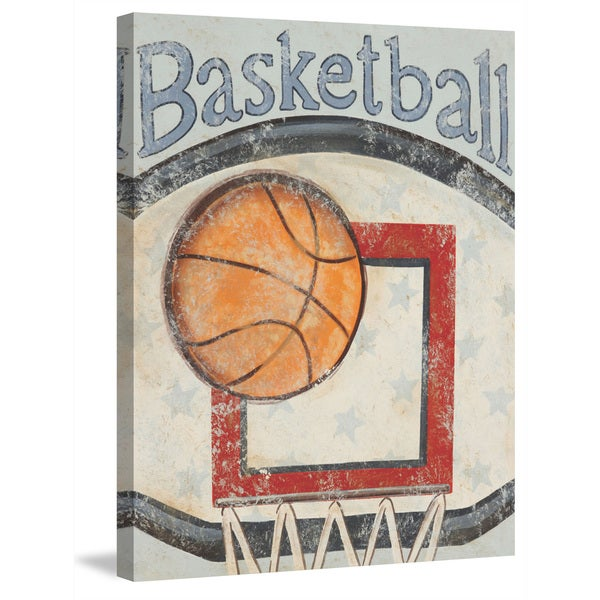 Marmont Hill - 'Backboard' by Reesa Qualia Painting Print on Wrapped Canvas - Orange