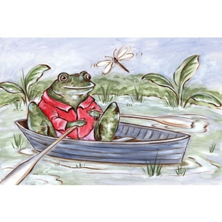 Marmont Hill - 'Freddie Gone Rowing' by Reesa Qualia Painting Print on Wrapped Canvas