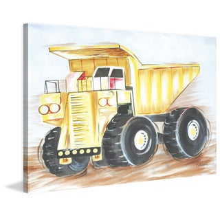 Marmont Hill - 'Dump Truck' by Reesa Qualia Painting Print on Wrapped Canvas
