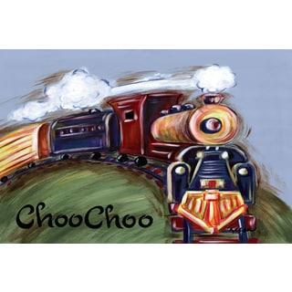 Marmont Hill - 'ChooChoo' by Reesa Qualia Painting Print on Wrapped Canvas