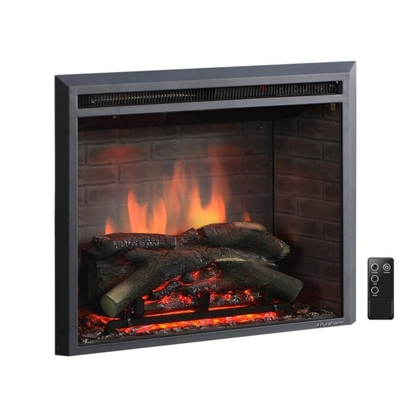 Shop Puraflame 26 Inch Western Electric Fireplace Insert With Remote