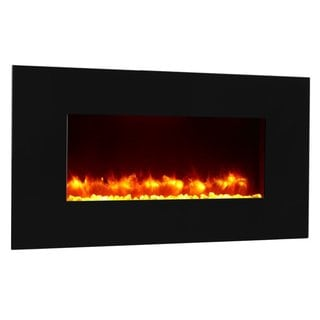 PuraFlame 47-inch Rossano, Wall Mounted, Flat Panel Electric Fireplace Heater