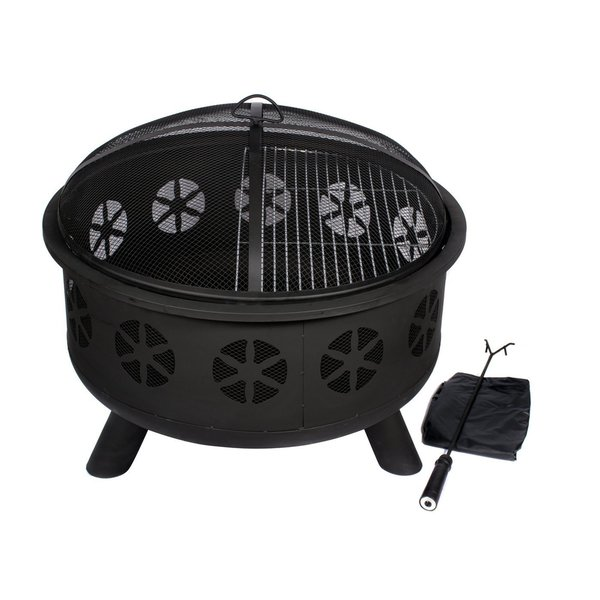 HIO 30-Inch Outdoor Firepit - Includes Protective Cover ...