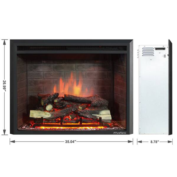 Puraflame 33 Inch Western Electric Fireplace Insert