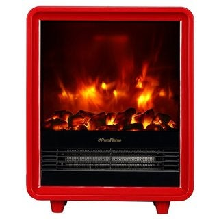 PuraFlame 12-inch Octavia 1500W Portable Electric Fireplace Heater