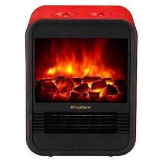 PuraFlame 9-inch Clara Mini Electric Fireplace Heater
