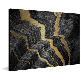 Marmont Hill - 'Rivers of Gold' Painting Print on Brushed Aluminum
