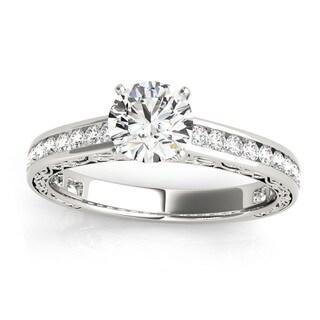 Transcendent Brilliance 14k White, Rose Or Yellow Gold 1 1/4ct TDW White Diamond Vintage Style Engagement Ring (F-G, VS1-VS2)