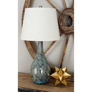 Zuri Blue Ceramic Table Lamp Pair