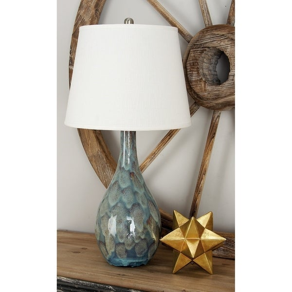 Shop Set Of 2 Eclectic Turquoise Ceramic Table Lamp By Studio 350