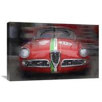 NAXART Studio '1959 Alfa Romeo Giulietta Watercolor' Stretched Canvas Wall Art