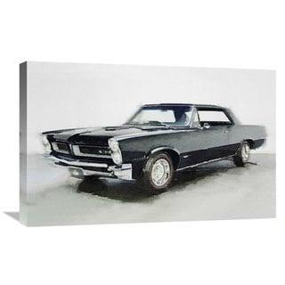 NAXART Studio '1966 Pontiac GTO Watercolor' Stretched Canvas Wall Art