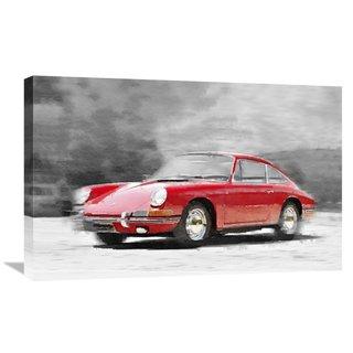 NAXART Studio '1964 Porsche 911 Watercolor' Stretched Canvas Wall Art