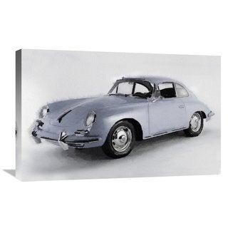 NAXART Studio '1964 Porsche 356B Watercolor' Stretched Canvas Wall Art