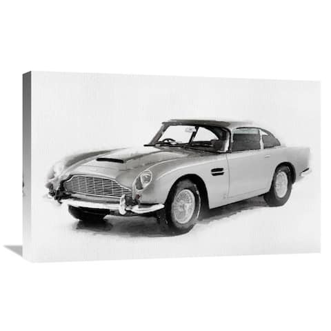 NAXART Studio '1964 Aston Martin DB5 Watercolor' Stretched Canvas Wall Art