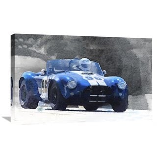 NAXART Studio '1964 AC Cobra Shelby Racing Watercolor' Stretched Canvas Wall Art