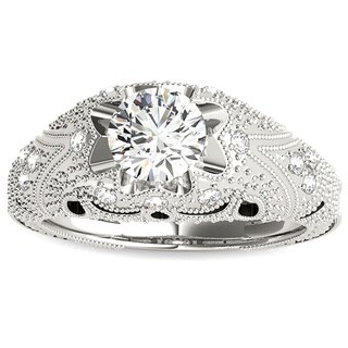 Transcendent Brilliance 14k White, Rose or Yellow Gold 1 1/10ct TDW White Diamond Victorian Style Engagement Ring (F-G, VS1-VS2)