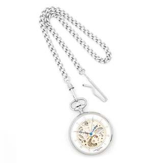 Charles Hubert Chrome Finish Brass Open Face Pocket Watch