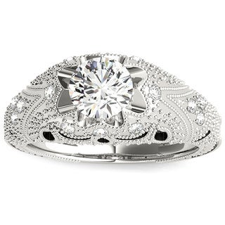 Transcendent Brilliance 14k White, Rose Or Yellow Gold 1 1/4ct TDW White Diamond Victorian Style Engagement Ring (F-G, VS1-VS2)