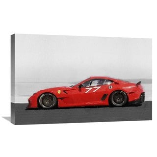 NAXART Studio '2006 Ferrari 599 GTB Fiorano Watercolor' Stretched Canvas Wall Art