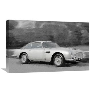 NAXART Studio 'Aston Martin DB5 Watercolor' Stretched Canvas Wall Art