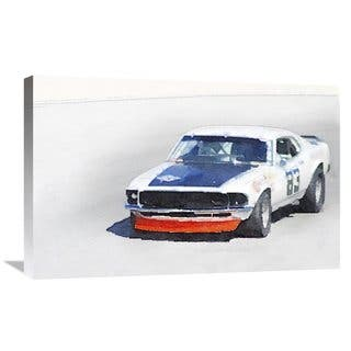 NAXART Studio 'Chevy Camaro Monterey Watercolor' Stretched Canvas Wall Art