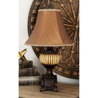 Kiwa Brown Resin Table Lamp Pair