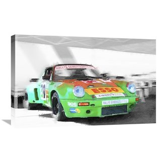 NAXART Studio 'Porsche 911 Turbo Watercolor' Stretched Canvas Wall Art