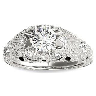 Transcendent Brilliance 14k White, Rose or Yellow Gold 3/5ct TDW White Diamond Victorian Style Engagement Ring (F-G, VS1-VS2)