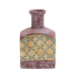 Jeco Hira Decorative Yellow, Pink Ceramic Vase