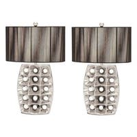Studio 350 Set of 2, Ceramic Table Lamp 28 inches high