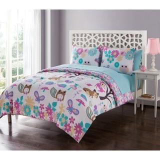 VCNY Home Forest Friends Reversible 5 or 7-piece Bed in a Bag with Sheet Set