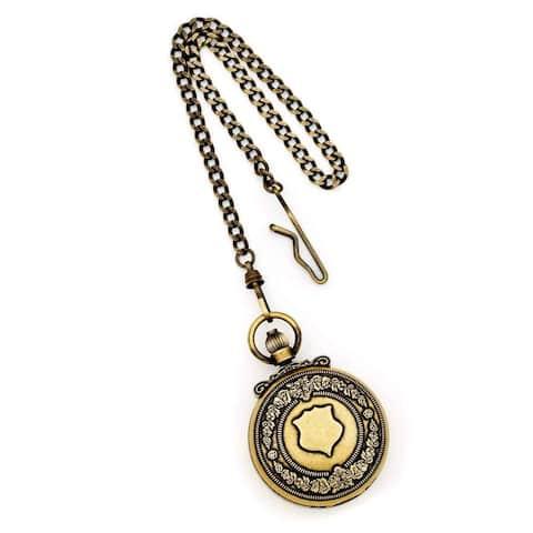 Charles Hubert Antique Gold Finish Skeleton Pocket Watch by Versil - Golden