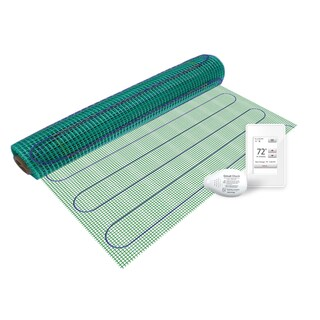 WarmlyYours 6 sq. ft. 120 Volts Electric Floor Heating Mat Kit with Touch Screen Thermostat