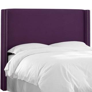 Skyline Furniture Custom Velvet Wingback Headboard