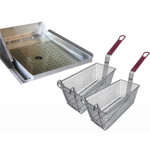 Cal Flame Drop-In Deep Fryer Accessories Helper Set For Outdoor Kitchen