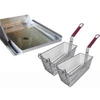 Cal Flame Drop-In Deep Fryer Accessories Helper Set For Outdoor Kitchen