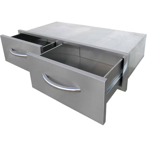 Cal Flame 2 Drawer, Horizontal Bins