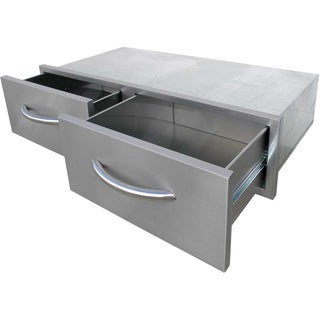 2 Drawer, Horizontal Bins