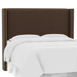 Custom Twill Upholstered Wingback Headboard- Skyline Furniture