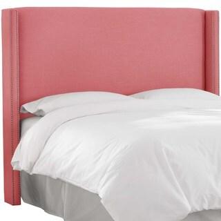 Custom Linen Wingback Headboard- Skyline Furniture