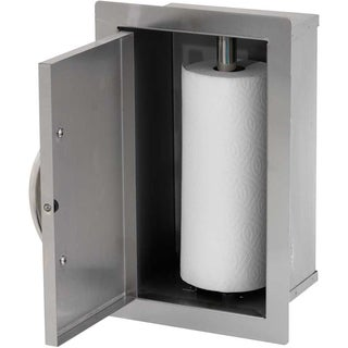 Cal Flame Built-in Stainless Steel Paper Towel Storage Cabinet