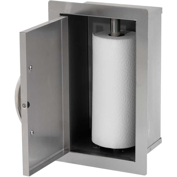 Cal Flame Built-in Stainless Steel Paper Towel Storage Cabinet - Stainless Steel