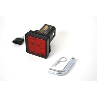 MaxxHaul Brake Light Trailer Hitch Cover With 12 LEDs