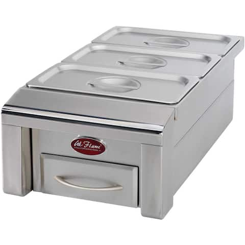 Cal Flame 12-inch Drop-in Food Warmer